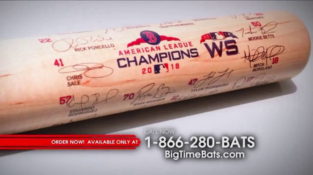 Louisville Slugger 2018 World Series Team Signature Bat TV Commercial, '2018 Roster and Red Sox Logo
