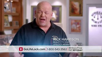 LifeLock TV Spot, 'DSP1 V1rev1 - Testimonial Rick Harrison' - Thumbnail 3
