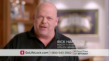 LifeLock TV Spot, 'DSP1 V1rev1 - Testimonial Rick Harrison' - 2088 commercial airings