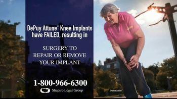Shapiro Legal Group TV Spot, 'Knee Replacements' - Thumbnail 2