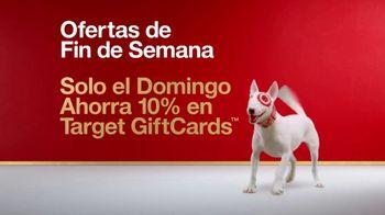 Target TV Spot, 'Ofertas de fin de semana: tarjetas de regalo' [Spanish]