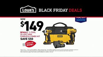Lowe's Black Friday Deals TV Spot, 'Both Lists: Combo Kit' - Thumbnail 8