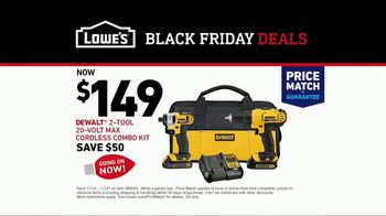 Lowe's Black Friday Deals TV Spot, 'Both Lists: Combo Kit' - Thumbnail 9