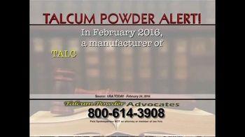Talcum Powder Advocates TV Spot, 'Ovarian Cancer'