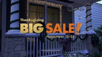 Big Lots Big Thanksgiving Sale TV Spot, 'Outdoor Decor' Song by Three Dog Night