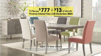Rooms to Go Holiday Sale TV Spot, 'Five-Piece Dining Sets: $13 Per Month' - Thumbnail 4
