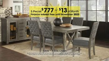 Rooms to Go Holiday Sale TV Spot, 'Five-Piece Dining Sets: $13 Per Month' - Thumbnail 7