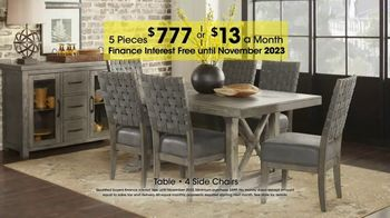 Rooms to Go Holiday Sale TV Spot, 'Five-Piece Dining Sets: $13 Per Month' - Thumbnail 8