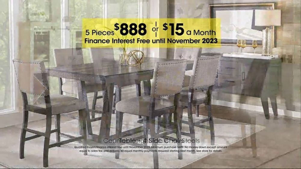 Rooms To Go Holiday Sale Tv Commercial Sofia Vergara 5 Piece Dining Set Ispot Tv