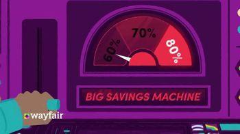 Wayfair Black Friday Week TV Spot, 'Big Savings Machine'