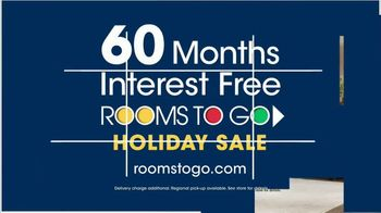 Rooms to Go Holiday Sale TV Spot, 'Five-Piece Queen Bedroom Sets' - Thumbnail 5