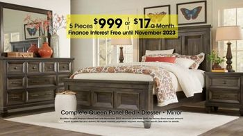Rooms to Go Holiday Sale TV Spot, 'Five-Piece Queen Bedroom Sets' - Thumbnail 4