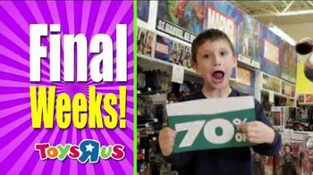 Toys R Us Going Out of Business Liquidation TV Spot, 'Final Weeks' - Thumbnail 6