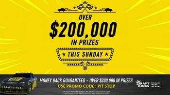 DraftKings 1-Day Fantasy NASCAR TV Spot, 'Money Back Guaranteed' - 2 commercial airings