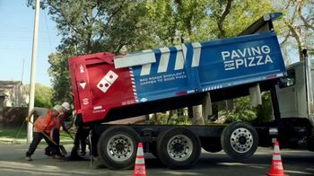 Domino's TV Spot, 'Paving for Pizza'
