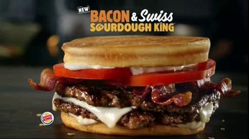 Burger King Bacon & Swiss Sourdough King TV Spot, \'Bacon & Swiss Lovers\'