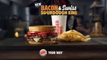 Burger King Bacon & Swiss Sourdough King TV Spot, 'Bacon & Swiss Lovers' - Thumbnail 9