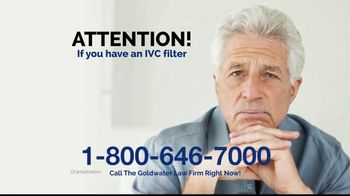 Goldwater Law Firm TV Spot, 'IVC Filters Can Fail' - Thumbnail 1