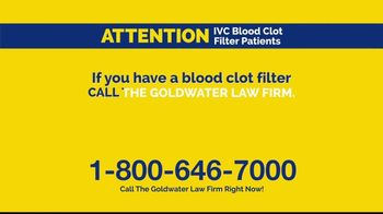Goldwater Law Firm TV Spot, 'IVC Filters Can Fail' - Thumbnail 4