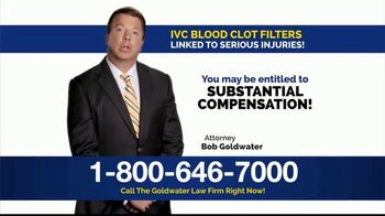 Goldwater Law Firm TV Spot, 'IVC Filters Can Fail' - Thumbnail 5