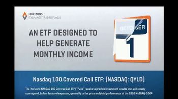 Horizons Exchange Traded Funds TV Spot, 'Generate Monthly Income' - Thumbnail 6