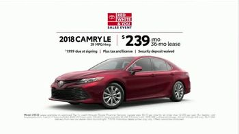 Toyota Red White & You Sales Event TV Spot, 'Camry & Corolla' [T2] - Thumbnail 5