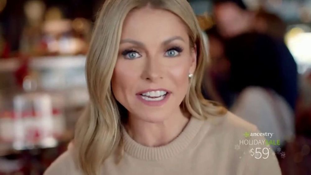 Ancestry Holiday Sale Tv Commercial Kelly Ripa S Ancestry Results