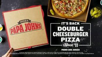 Papa John's Double Cheeseburger Pizza TV Spot, 'It's Back' - Thumbnail 10