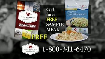 Wise Company Wise Food Storage TV Spot, 'Free Meal Sample' - Thumbnail 7