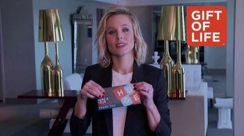 Gift of Life Marrow Registry TV Spot, 'Kristen Bell PSA'