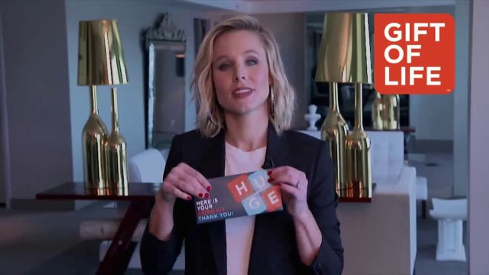 Gift of Life Marrow Registry TV Commercial, 'Kristen Bell PSA'
