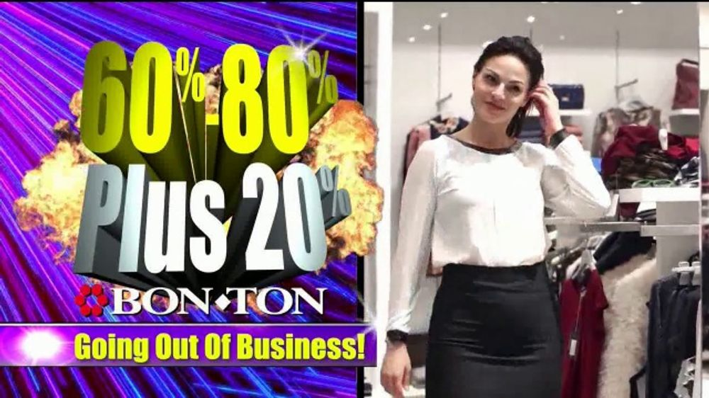Bon Ton Stores Going Out Of Business Liquidation Tv Commercial