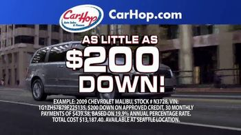 CarHop Auto Sales & Finance TV Spot, 'Great Place to Buy a Car: $200 Down'