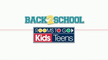 Rooms to Go Back 2 School Sale TV Spot, 'Kids' Rooms' - Thumbnail 1