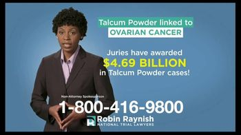 Robin Raynish Law TV Spot, 'Talcum Powder Products' - Thumbnail 2