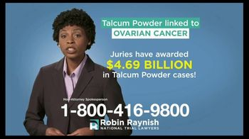 Robin Raynish Law TV Spot, 'Talcum Powder Products' - Thumbnail 3