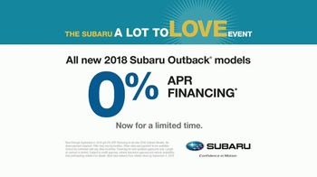 Subaru A Lot to Love Event TV Spot, 'Never Too Early' Song by Julie Doiron - Thumbnail 8