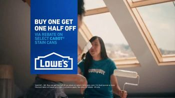 Lowe's TV Spot, 'Painting Project: Cabot Stain' - Thumbnail 10