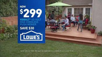 Lowe's TV Spot, 'Good Backyard: Kobalt Push Mower' - Thumbnail 9