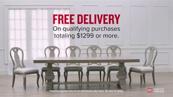 Value City Furniture TV Spot, 'Style and Comfort: Free Delivery'