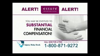 Injury Help Desk TV Spot, 'Essure Birth Control Implant'