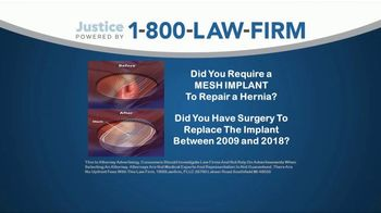 1-800-LAW-FIRM TV Spot, 'Failed Hernia Mesh Implant'
