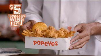Popeyes $5 Boneless Wing Bash TV Spot, 'Fiesta' [Spanish]
