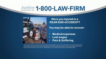 1-800-LAW-FIRM TV Spot, 'Rear-End Accident'