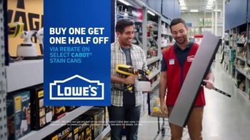 Lowe's TV Spot, 'Game-Changer: Cabot Stains' - Thumbnail 8