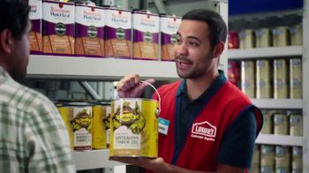 Lowe's TV Spot, 'Game-Changer: Cabot Stains' - Thumbnail 2
