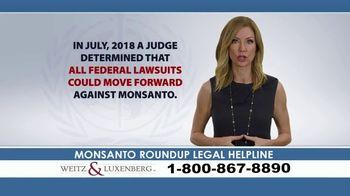 Weitz and Luxenberg TV Spot, 'Legal Alert: Roundup Weed Killer'