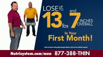 Nutrisystem for Men TV Spot, 'Put Down the Pie: Free Bars & Shakes' - Thumbnail 3
