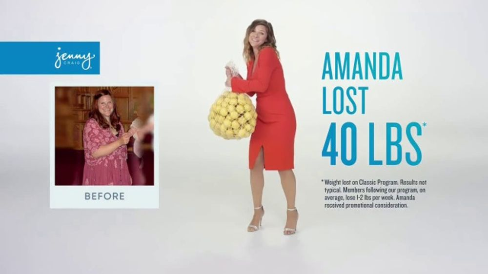 Jenny Craig Rapid Results Tv Commercial Amanda 120 In Free Food