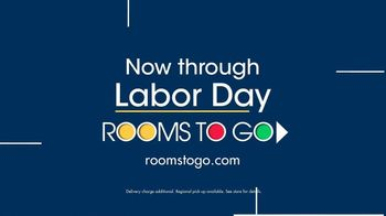 Rooms to Go TV Spot, 'Labor Day: Chaise Sofa' - Thumbnail 9